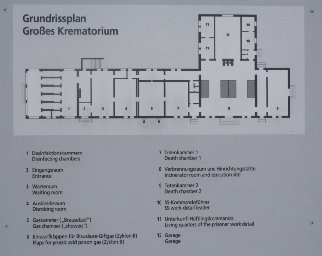 Layout of the crematorium