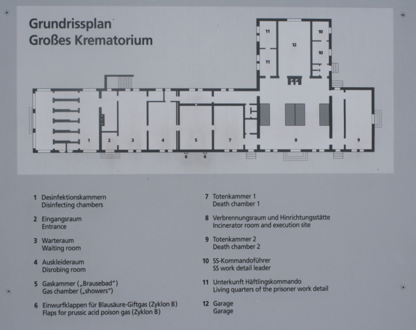 Layout of the crematorium