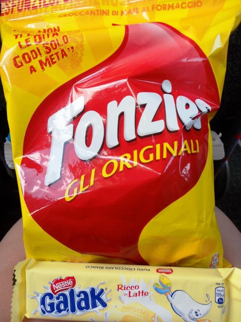 Snacks! Twisties and Milky Bar