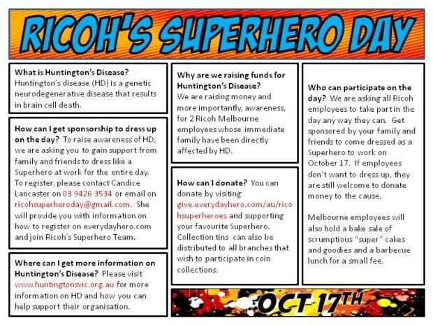 Ricoh Superhero Day Flyer(2)